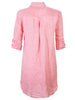 Washed Linen Alex Shirtdress Coral