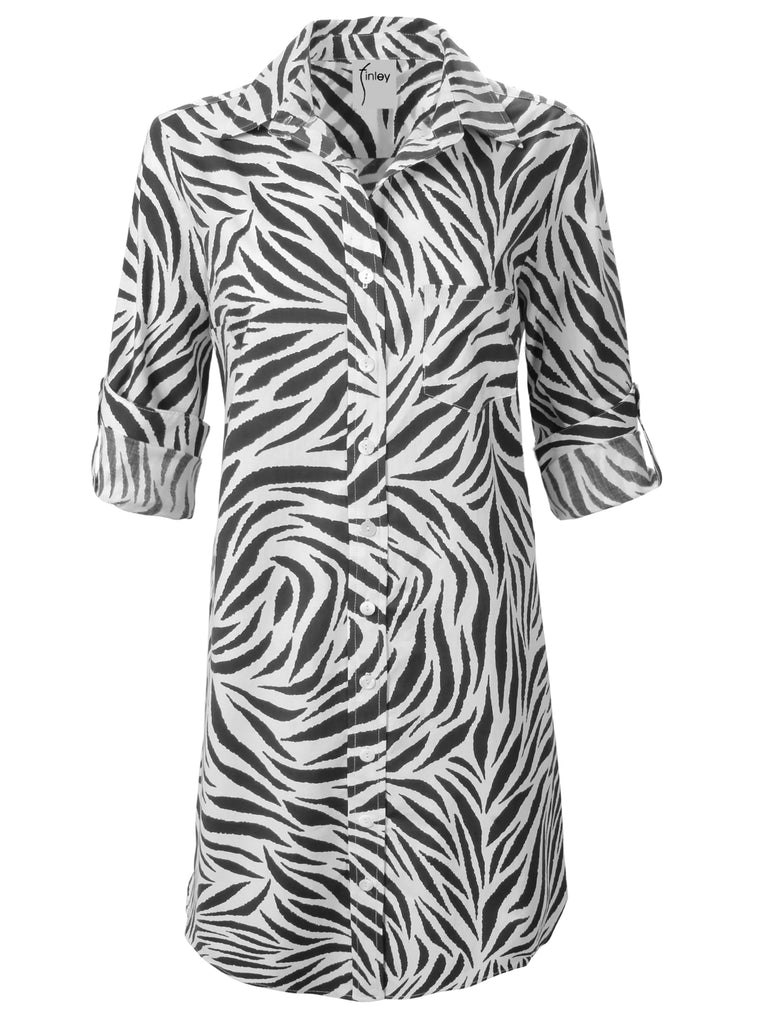 Alex Shirtdress Zebra Print
