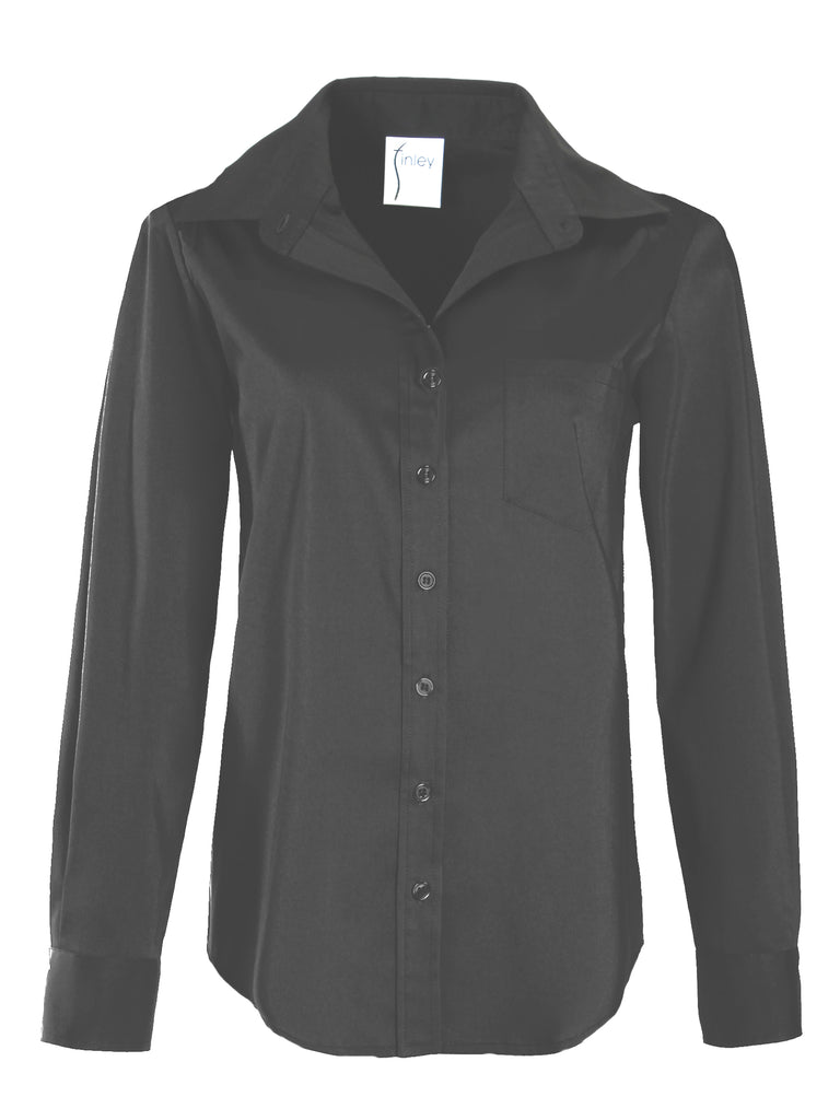 Alex Silky Poplin Black