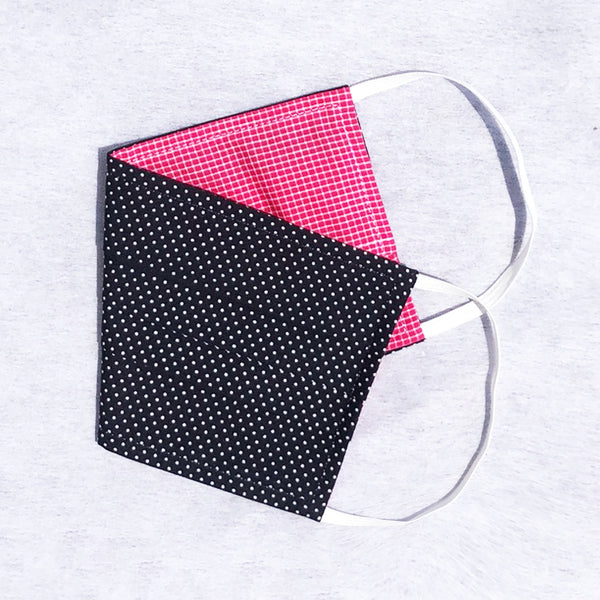 Pack of 3 Face Masks Black/White Minidot - available now!