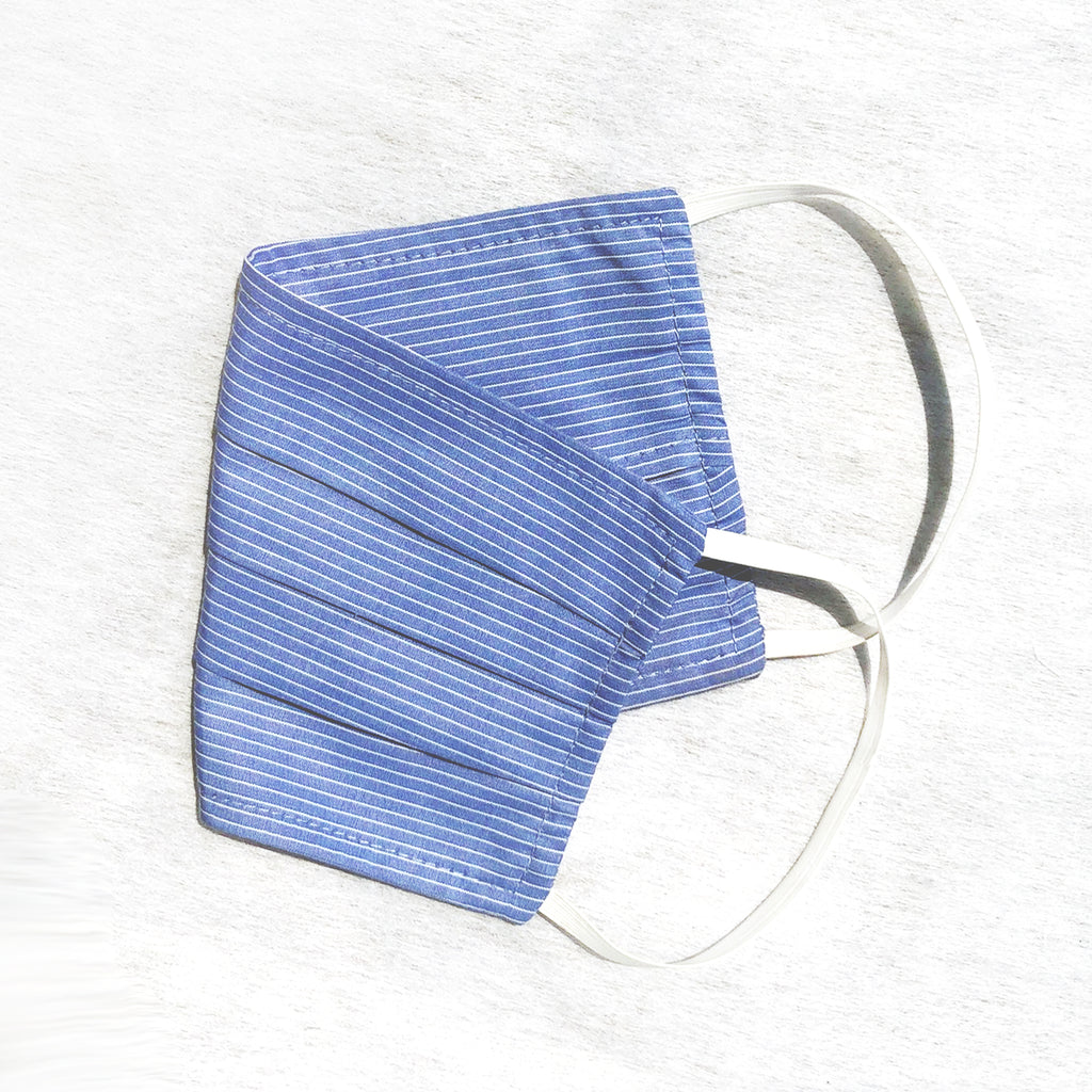 Pack of 3 Face Masks Light Blue Stripe - available now!