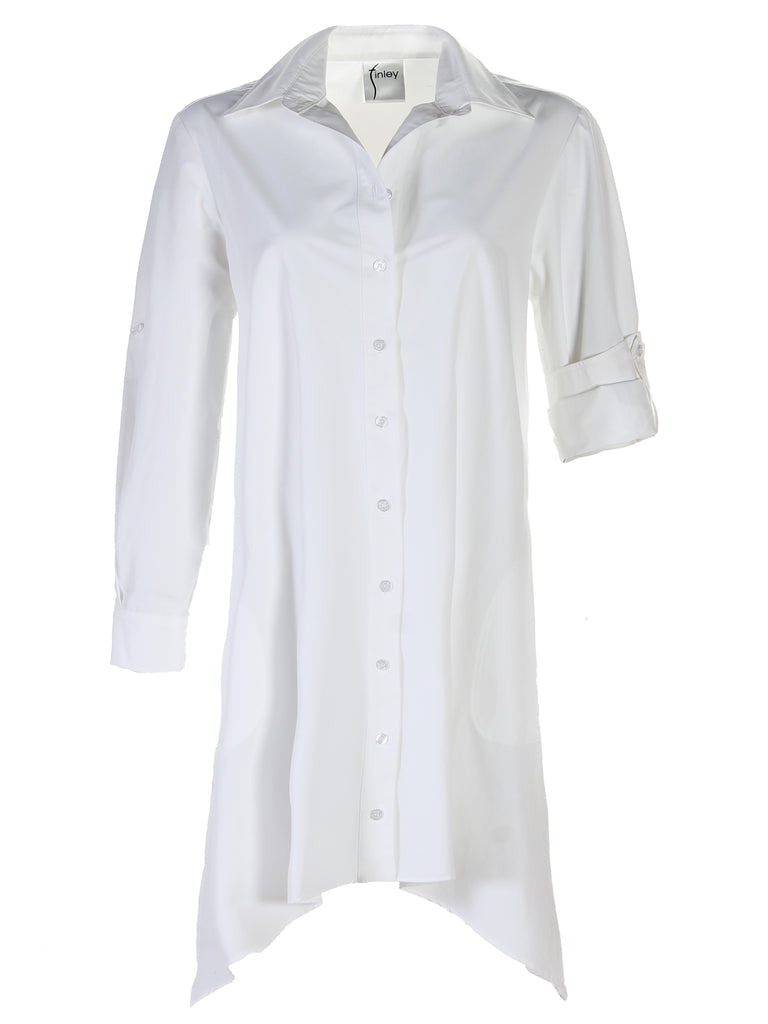 Bruno Dress White Polished Cotton