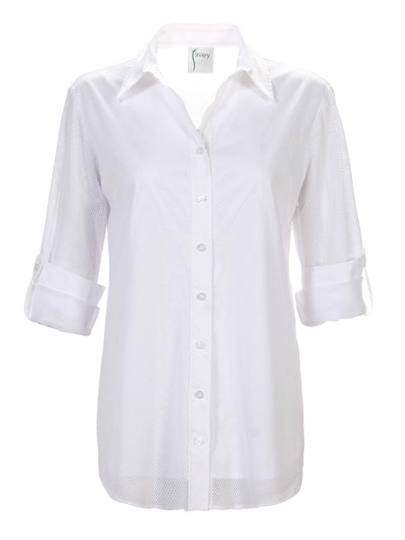 Byron Shirt Mesh White