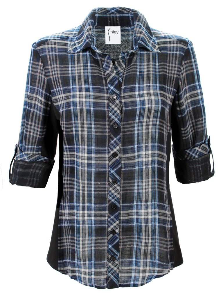Casey Combo Shimmer Plaid