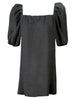 Channing Pleat Neck Dress Charcoal Grey Bamboo Knit