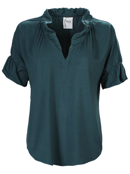 Crosby Top Teal Bamboo Knit