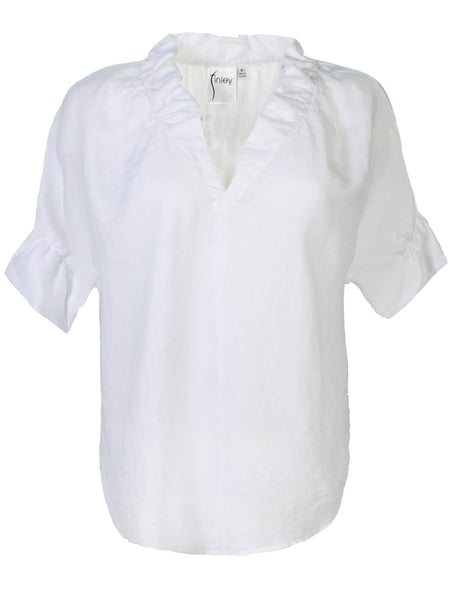 Crosby Shirt White Linen