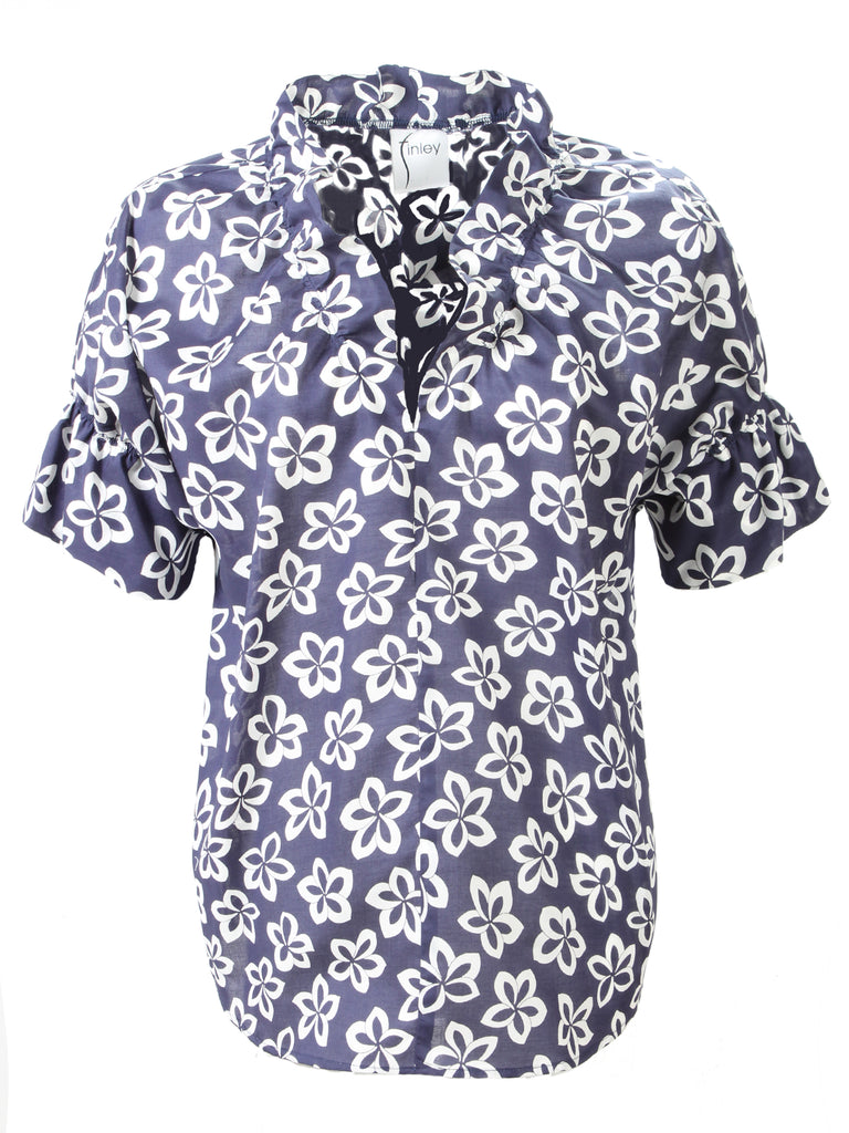 Crosby Shirt Voile Floral Medallion