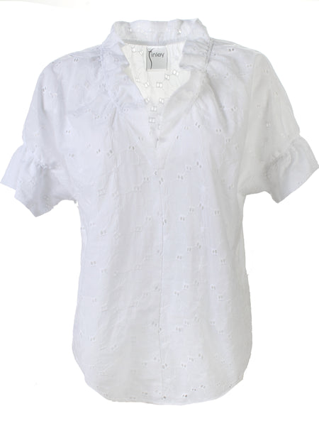 Crosby Shirt White Eyelet