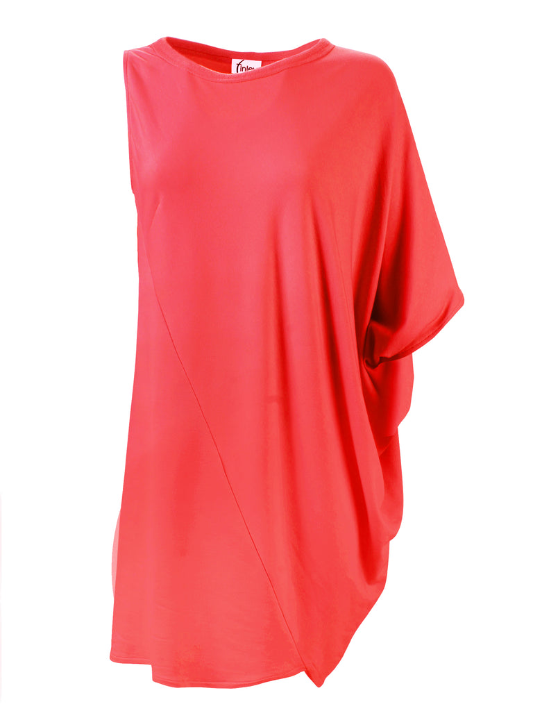 Curry Wedge Dress Coral Bamboo Terry Knit