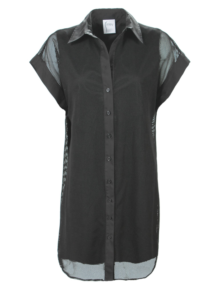 Dolman Mesh Camp Dress