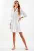 Belinda Tucked Dress White