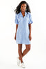 Washed Linen Crosby Dress Blue