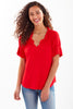Crosby Top Red Bamboo Knit