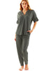 Crosby Top Charcoal Heather Grey Bamboo Terry