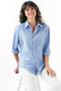 Washed Linen Monica Shirt Blue