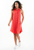 Swing Dress Lipstick Red 100% Cotton