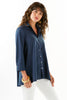 Trapeze 3/4 Sleeve Sateen