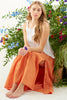 Charming Long Skirt Mango Linen