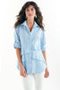 Washed Cotton Jenna Blue/White Stripe