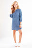 Chloe Dress Denim Dot