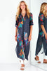 Long Alex Shirtdress Midnight Floral