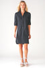 Alex Shirtdress Black Polished Cotton