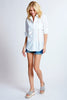 Bailey Shirt White Eyelet
