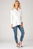 Sylvia Tie Front Long Sleeve White