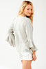 Washed Linen Carmella Shell White