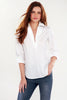 Endora Long Sleeve 1/2 Zip Shirt White