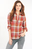 Endora 1/2 Zip Shirt King's Road Plaid