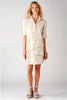 Jenna Dress Sand Polished Cotton