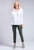 Trapeze Top Long Sleeve White