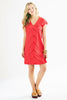 Megan Dress Rouge Red Eyelet