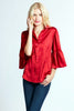 Naomi Satin Top Red