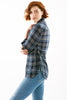 Rhett Drawstring Shirt Shimmer Plaid