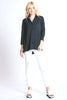 Trapeze Top 3/4 sleeve Black