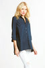 Trapeze Top 3/4 Sleeve Navy
