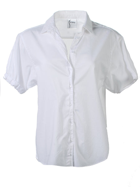 Izzy Camp Shirt White Washed Cotton