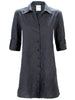 Jody Shirtdress Black/Navy Textured Stripe