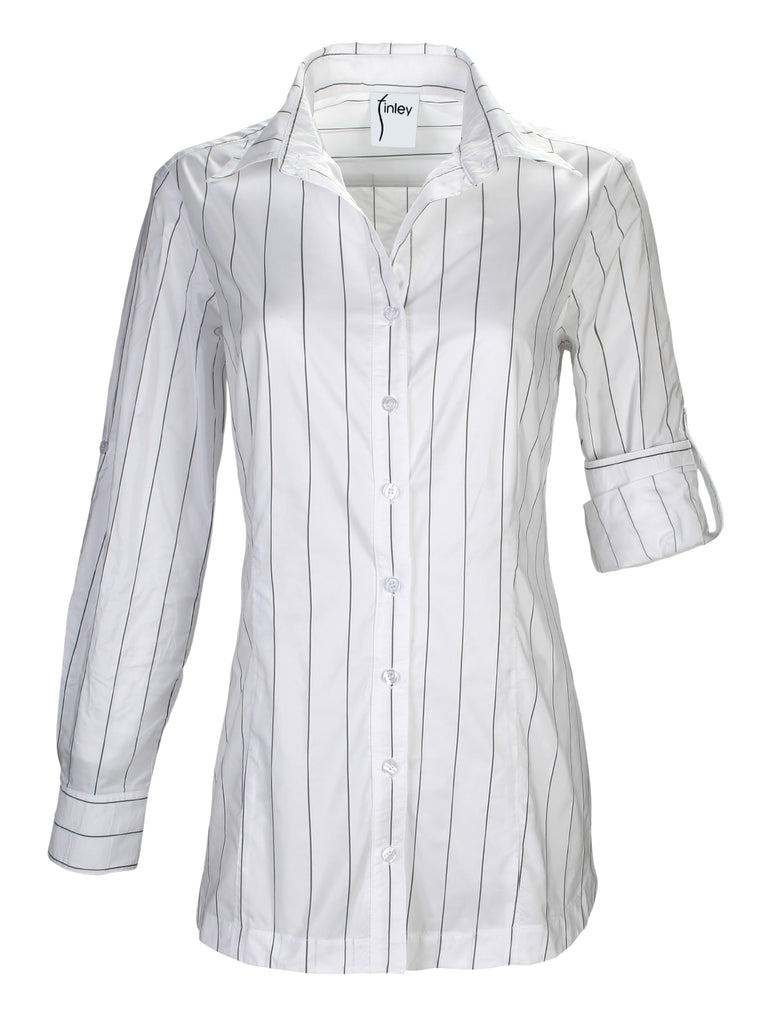 Joey Tech Pinstripe White/Black