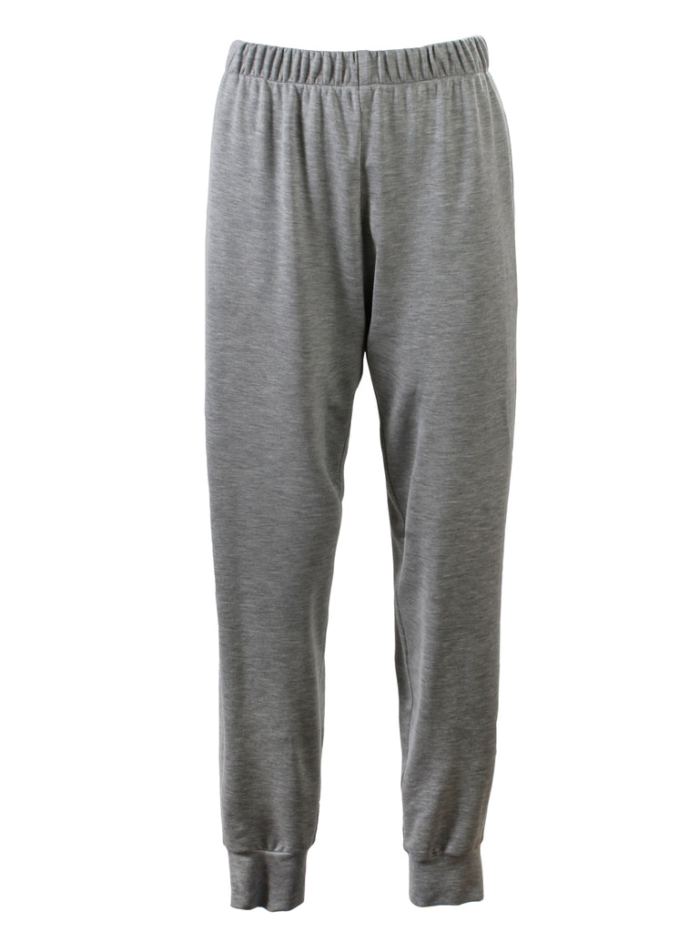 Jogger Pant Light Grey Melange Knit
