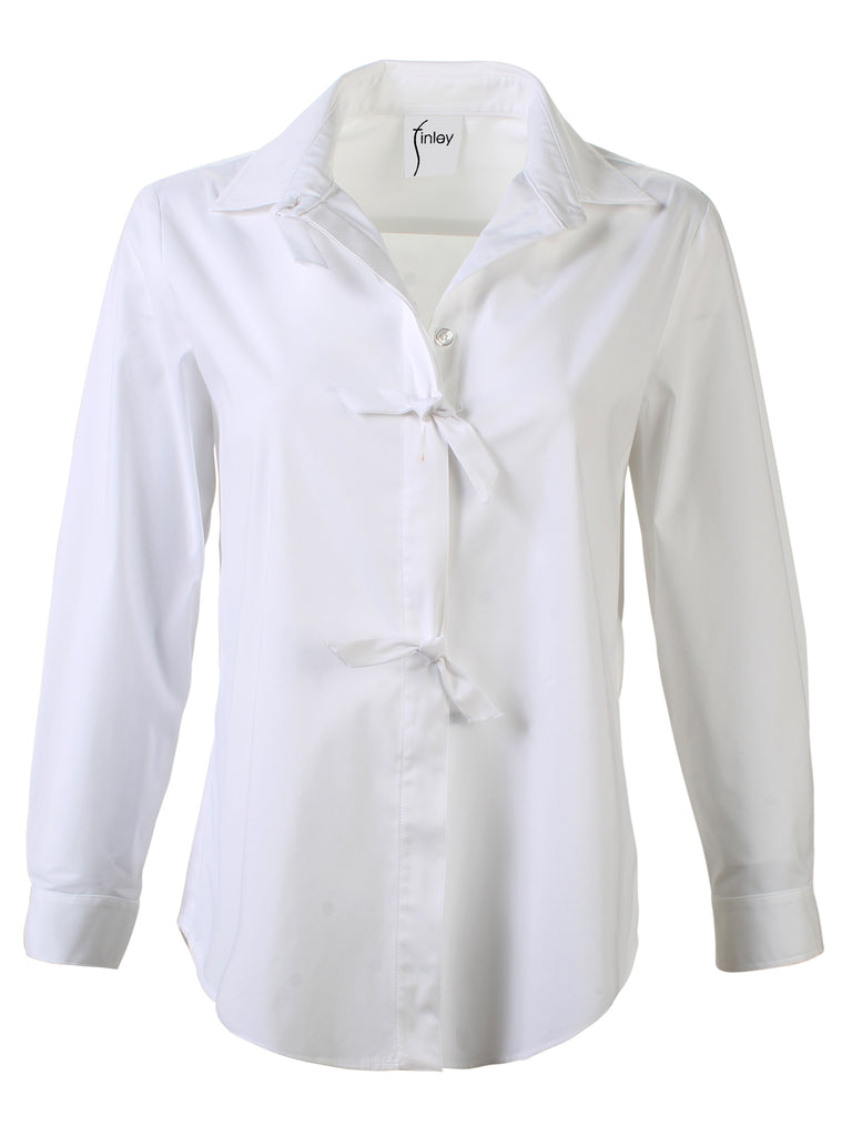 Julian Shirt White Silky Poplin