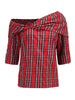 Liv Off Shoulder Highland Fling Plaid