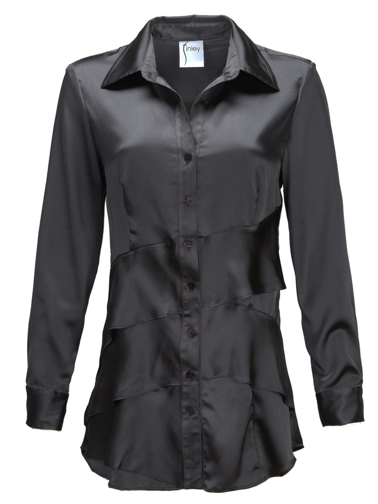 Jenna Black Satin Long Sleeve