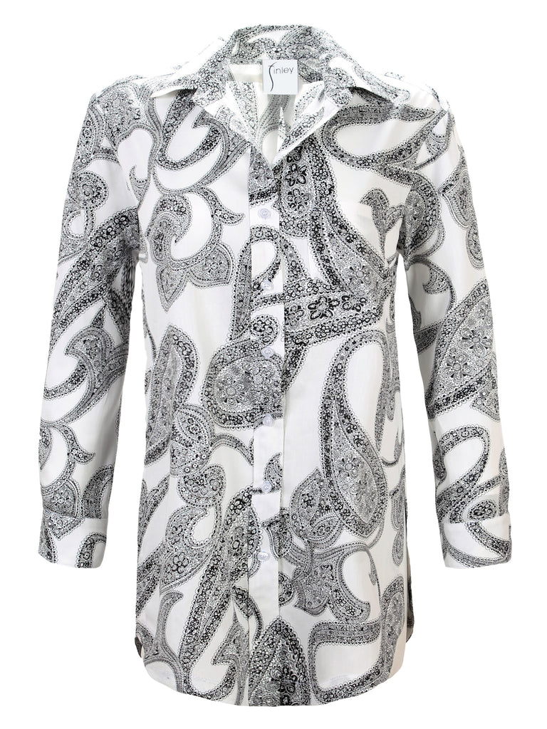 Luca Tunic Etched Paisley