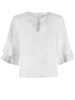 Washed Linen Maxie Flutter Sleeve Top White