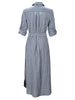 O'Brian Long Shirtdress Blue Stripe