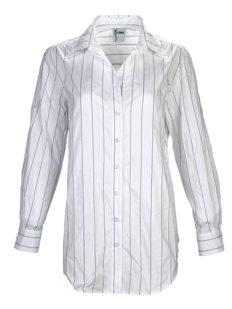 Monica Tech Pinstripe White / Black